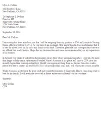 Resignation Letter Due To Pregnancy Sample sample retirement resignation letters