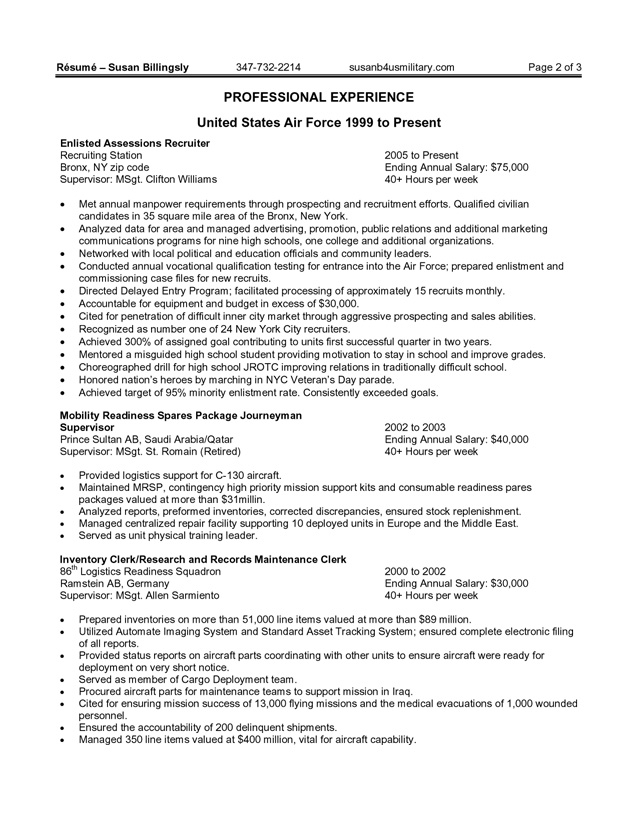 resume exles sle federal resume summary of