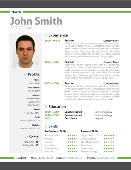 Resume Templates for Creative Jobs for Modern Resume Green and Unusual Resumes That Worked