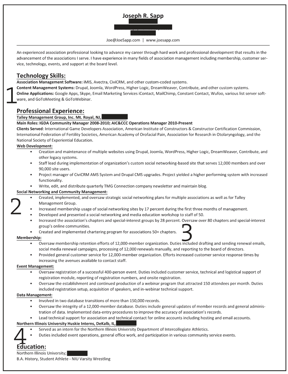 marketing professional resume summary