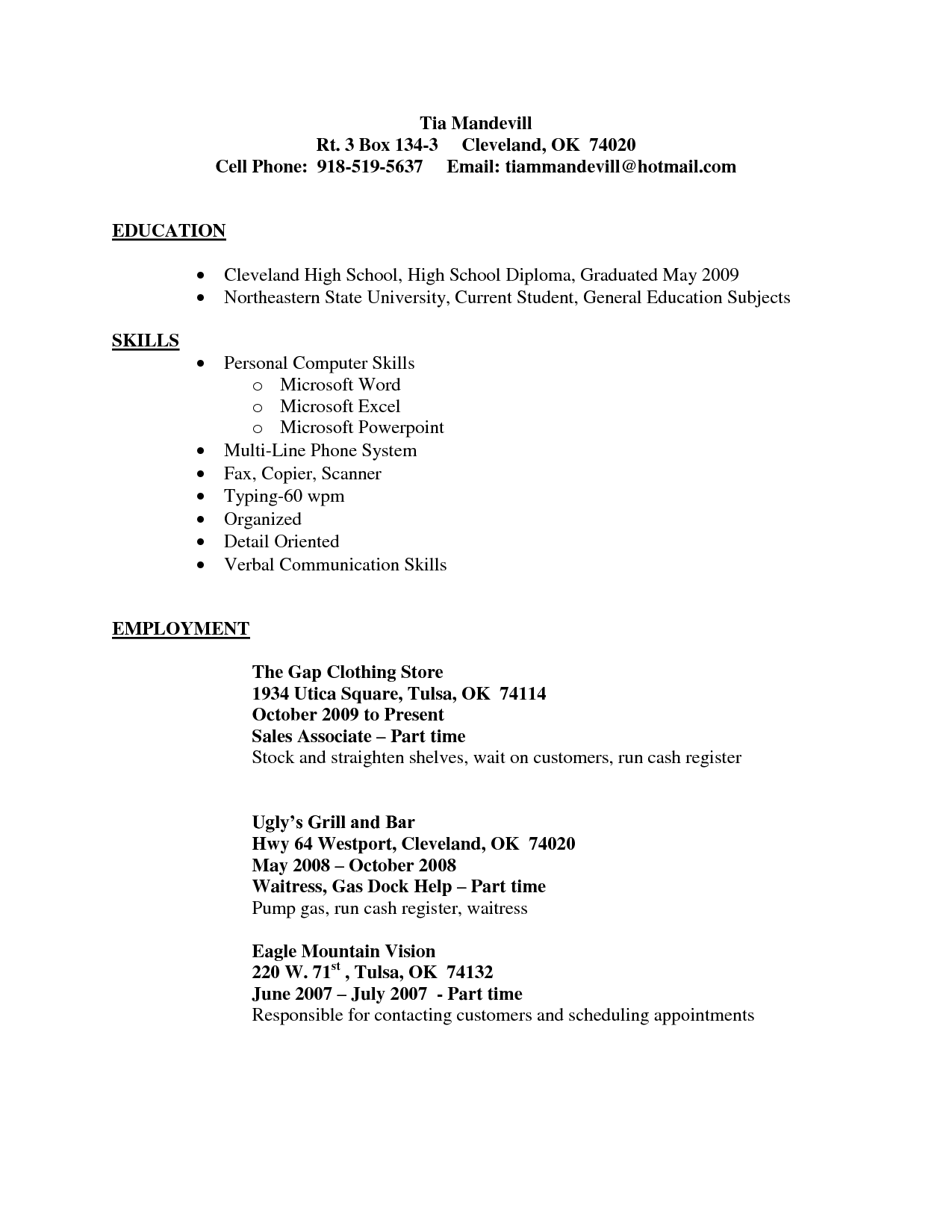 Sales Associate Sample Resume Sample Resume Store Shop Sample store associate job description