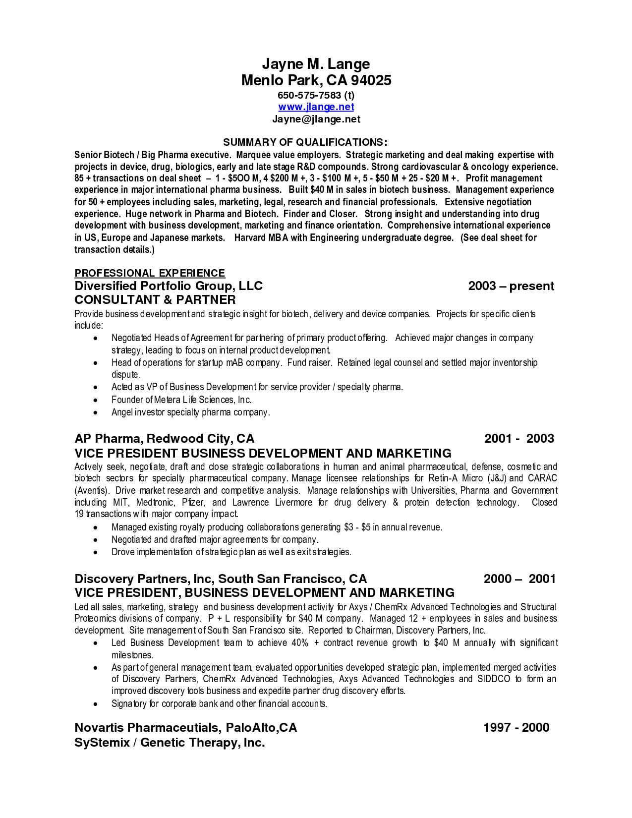 Examples Of Summary Of Qualifications For Resume