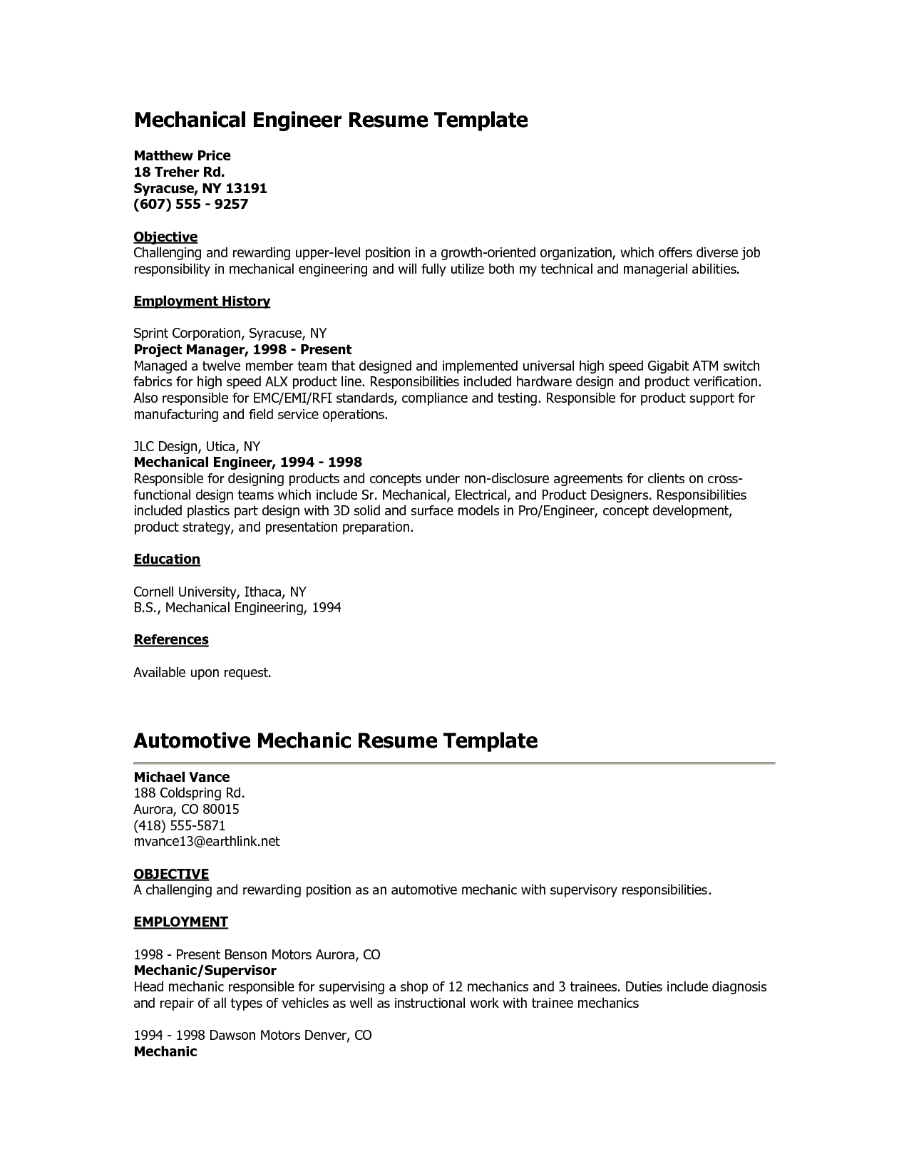 sample resume for a bank teller