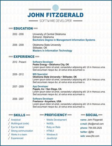 The Bold resume template software developer creative resume templates
