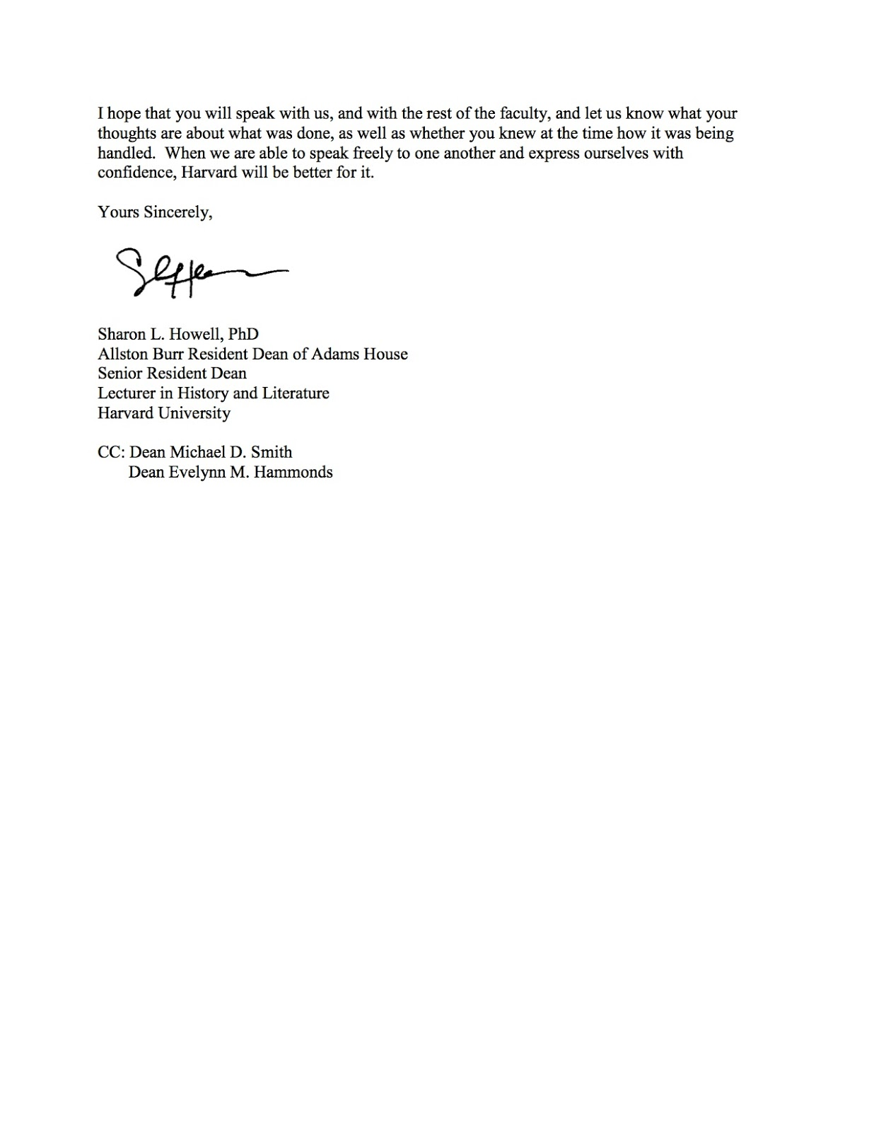 Two Weeks Notice Letter Letter To Drew Faust  Two Weeks Notice Letter