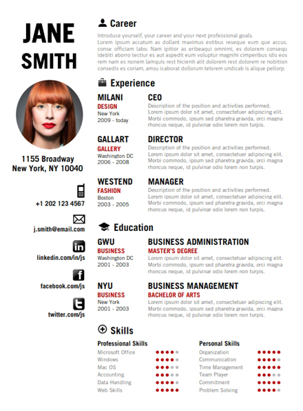 Unique Resume Templates Cool Resume Ideas