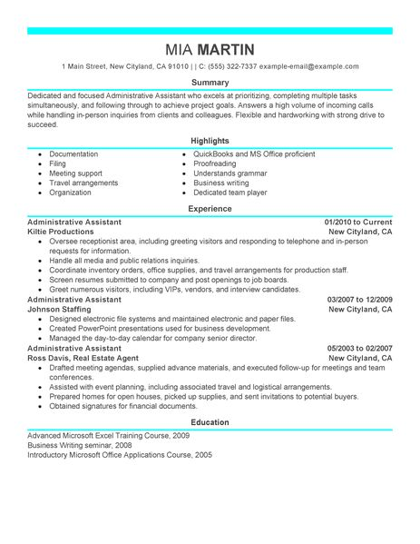 administrative assistant administration office support resume example modern administrative assistant resume sample by mia martin