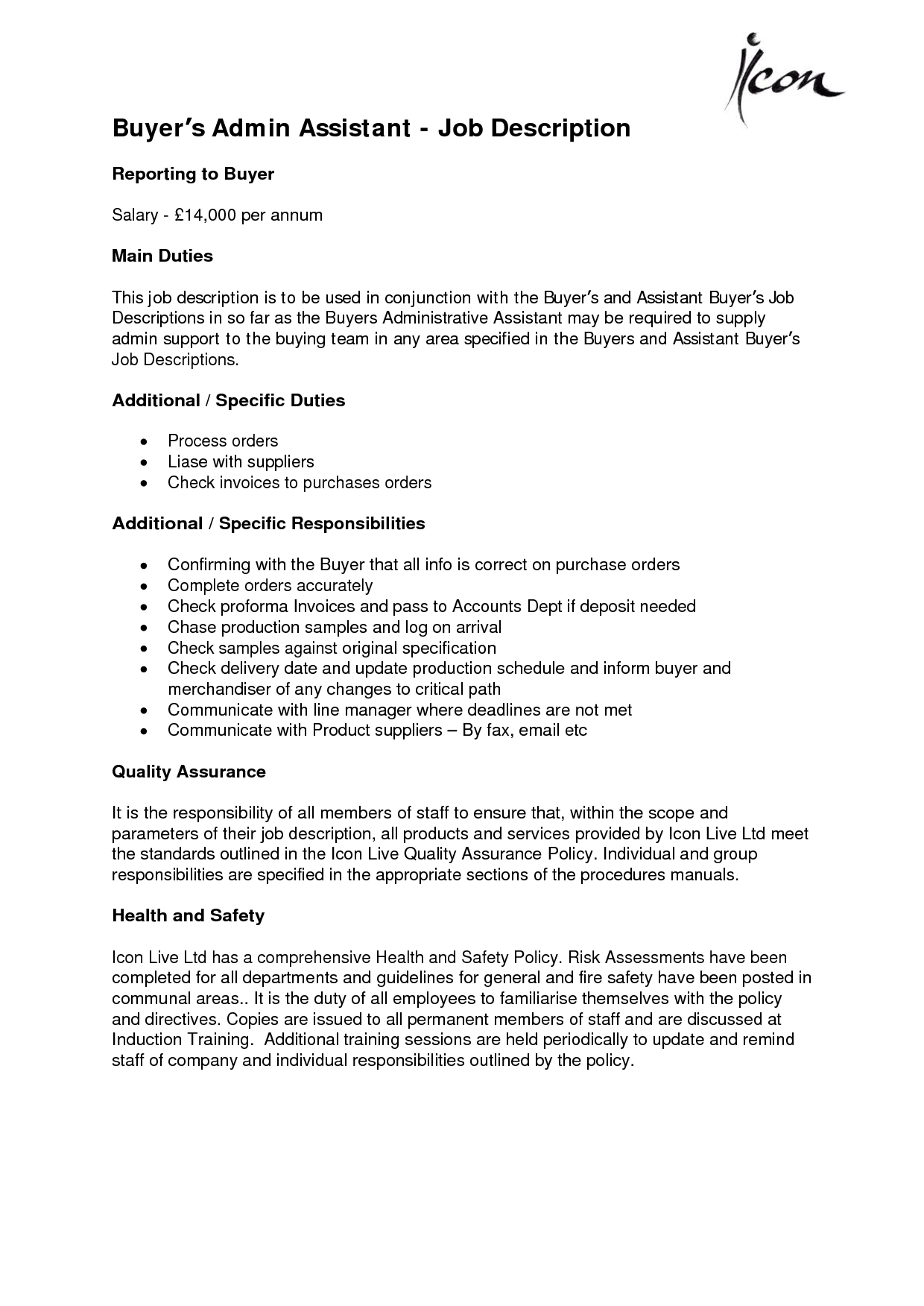administrative assistant job descriptions Administrative Assistant Skills List