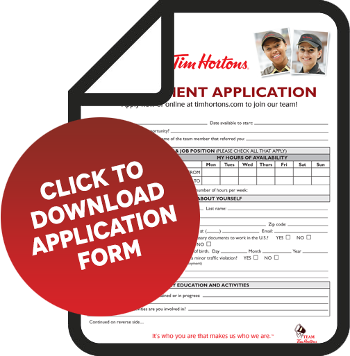 application form tim hortons application pdf