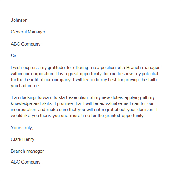 appreciation letter to boss thank you letter to manager ...