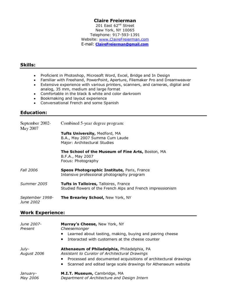 Barista Resume Sample Barista Job Description Resume