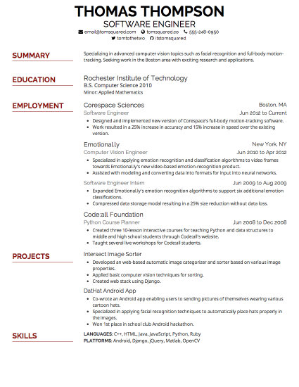 best resume font best font for resume 2015 by thompson