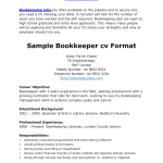 bookkeeper job description for grocery store
