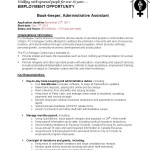 bookkeeper job description full charge bookkeeper job description by fcj refugee centre