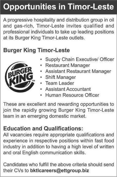 burger king resume jobs sample