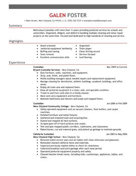 cleaning professionals maintenance and janitorial thumbnail sample resume for cleaning job in australia by galen foster