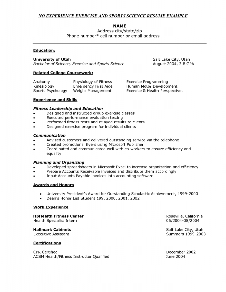 Cna Sample Resume For Experienced And Skills Certified