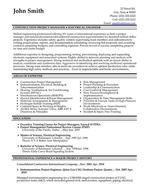 14 Project Manager Resume Samples Samplebusinessresume