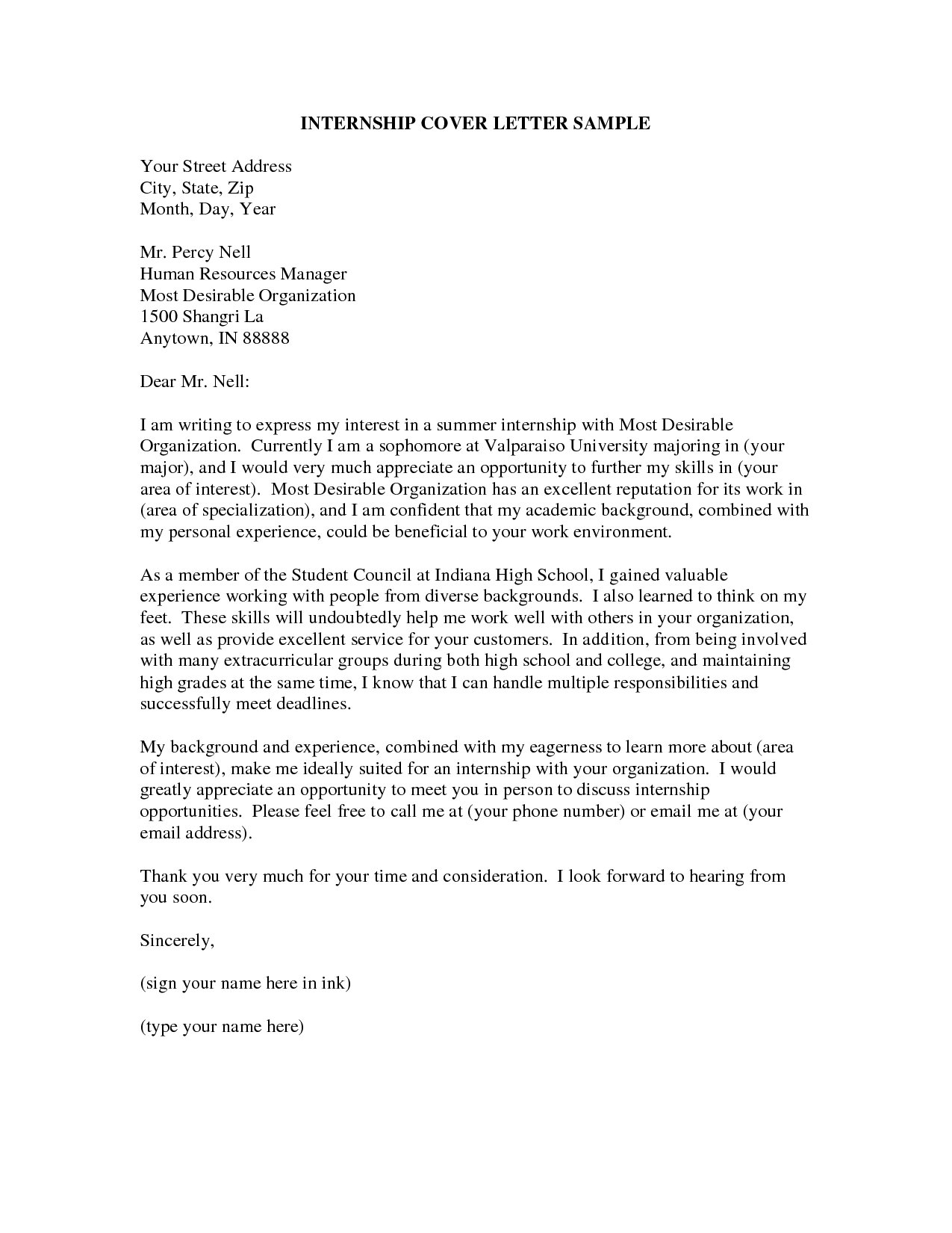 cover letter for internship resume cover letter internship ...