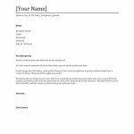 cover letter template word Free Cover Letter Templates For Word