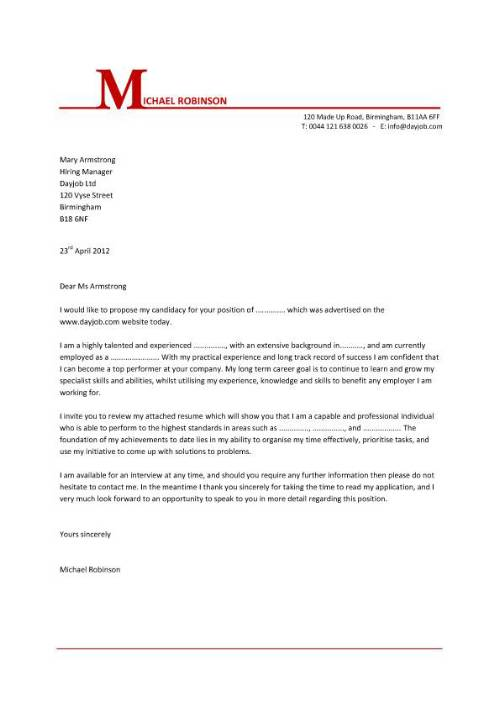 cover letter template word doc cover letter template michael robinson - Sample Cover Letter Doc