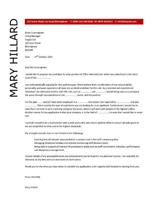 Free Cover Letter Templates Word  SamplebusinessresumeCom