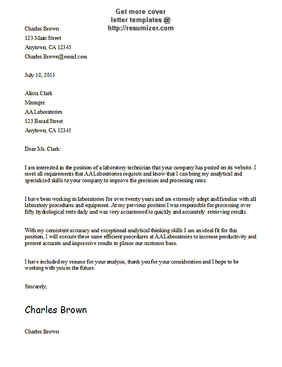 cover letter templates free download cover letter template