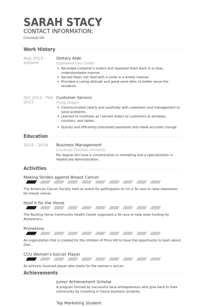 Dietary Aide Resume Example Dietary Aide Resume Example