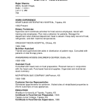dietary aide resume sample resume sample allison kathleen lawlor ...