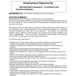 employment Opportunity Administrative Assistant Investment and Commercialization icg administrative-assistant-job-description