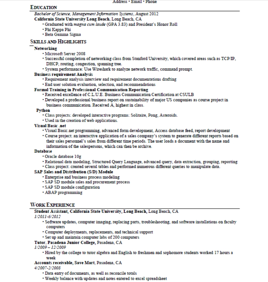 Top skills to put on a resumes samplebusinessresumecom for Business administration resume skills
