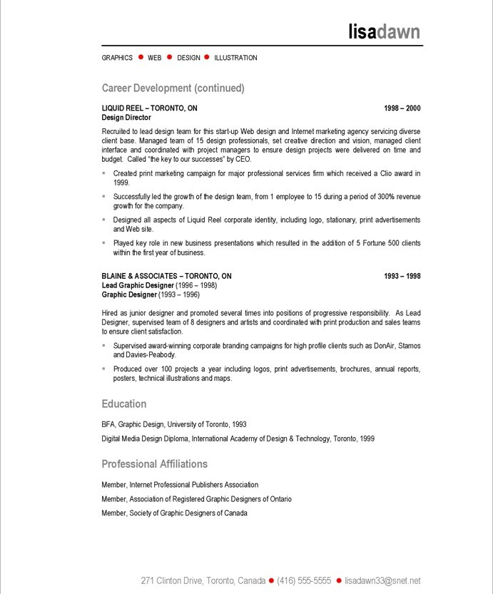 skills for web design resume