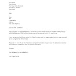 formal letter of resignation template resignation letter