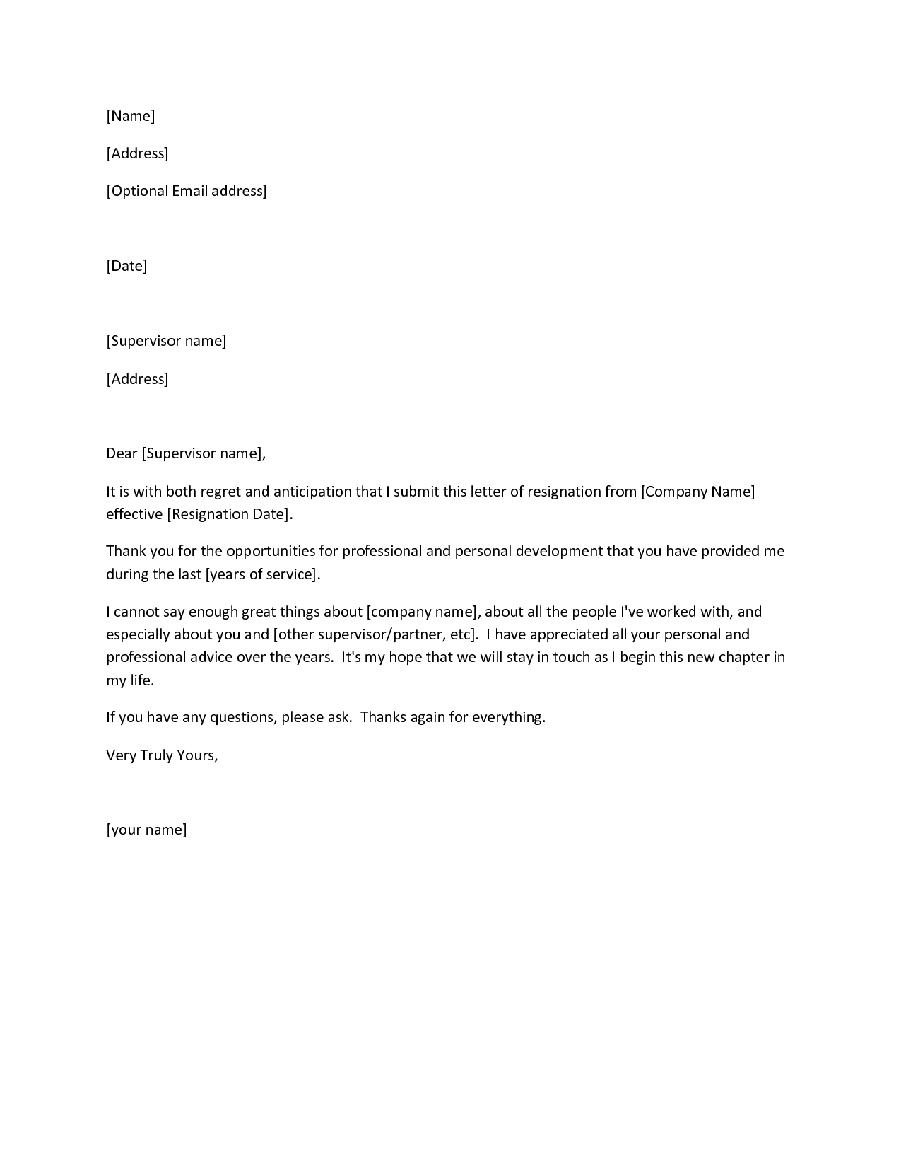 formal resignation letter example official letter of resignation examples of letters of resignation
