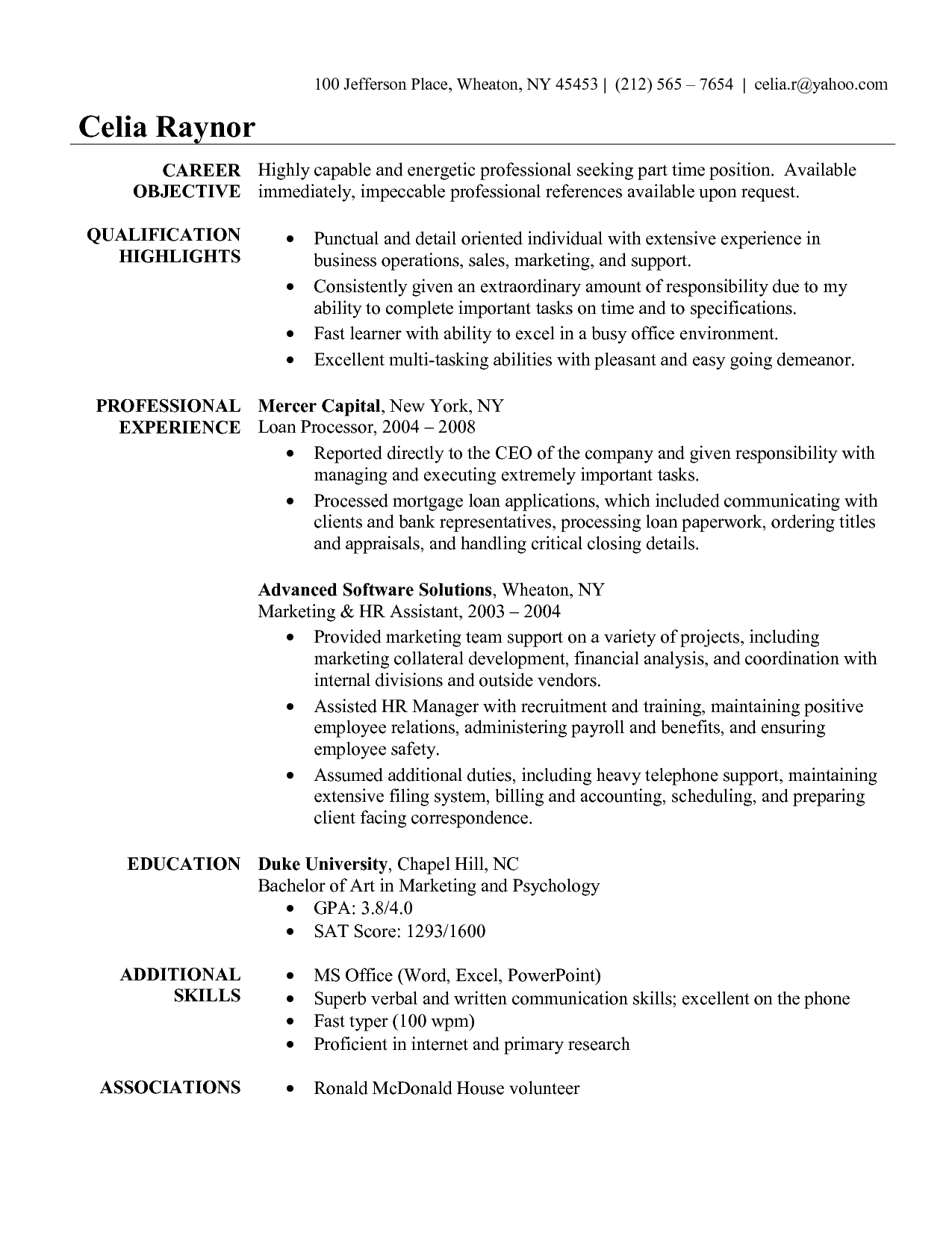 executive assistant objective samples commonpenceco - Objectives For Medical Assistant Resumes