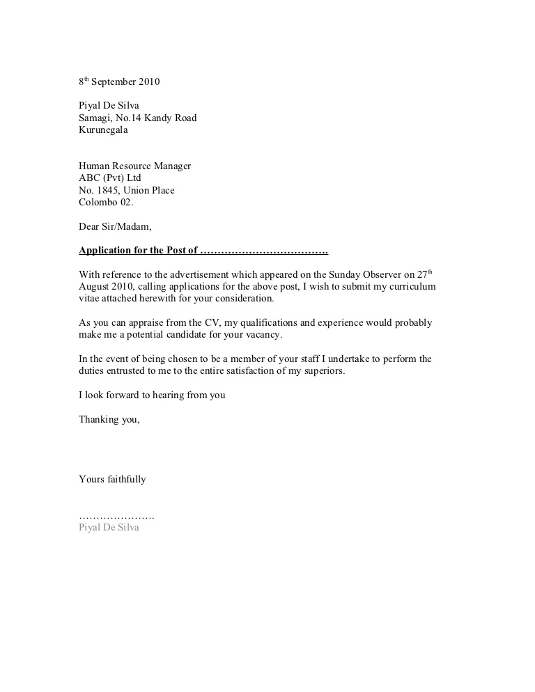 10 general cover letter sample samplebusinessresumecom - General Cover Letter Format