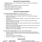 good resume cover letter examples Resume Sample Customer Service Linda A. Sincera