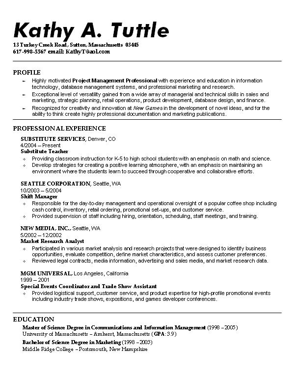 Good Examples Of Resumes Example Resume Layout Resume Examples And