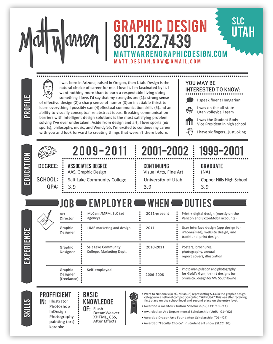graphic design resume example resume graphic designer - Graphic Designers Resumes