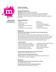 graphic design resume samples Creative Graphic Designer Resume