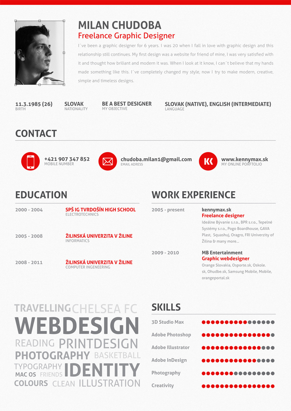 graphic design resume skills Examples of Creative Graphic Design