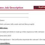 hostess job description for resume Bar hostess job description