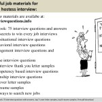 hostess job description in a hospital hospital hostess interview questions