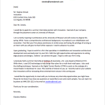 internship email cover letter Internship Cover Letter Sample chandra watkins
