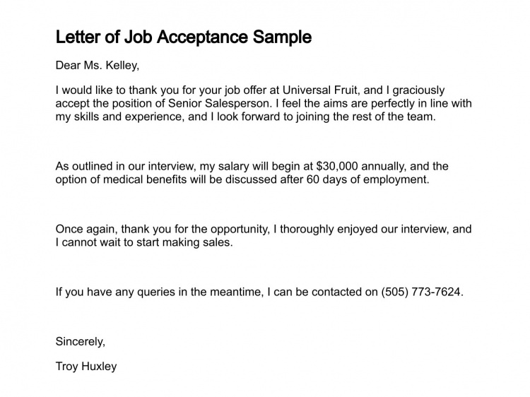 job acceptance letter 10 how to write a acceptance letter 11491
