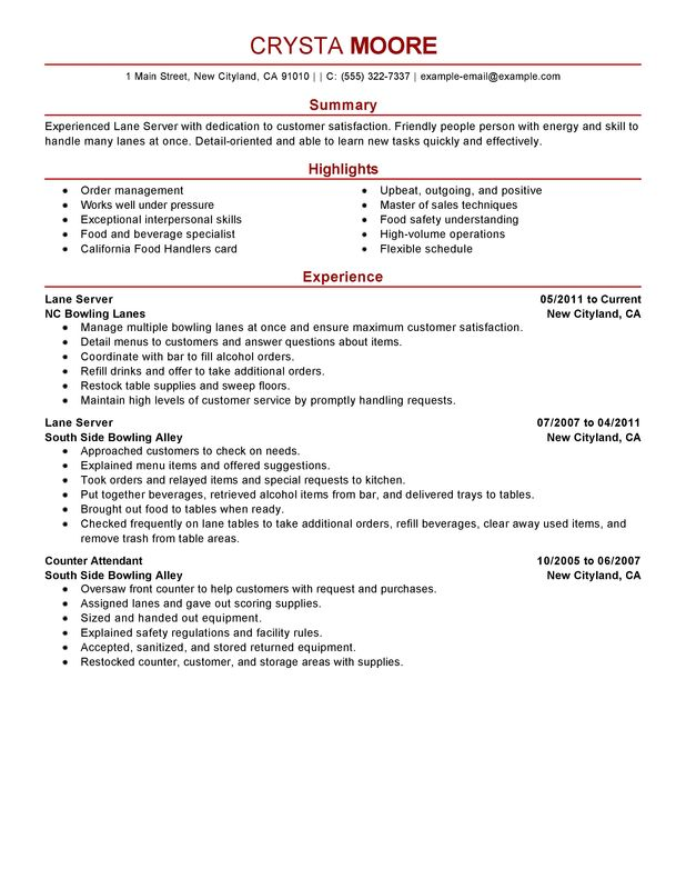 lane server media and entertainment server resume skills by crysta moore restaurant - Restaurant Server Resume