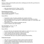 material handler resume cover letter material handler resume johnny peterson