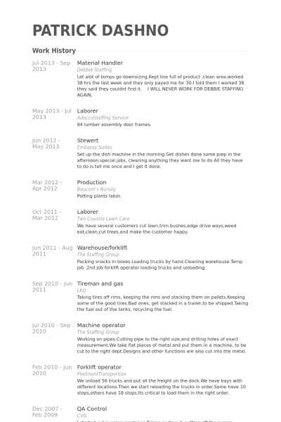 material handler resume template materialhandlerresume example patrick dashno