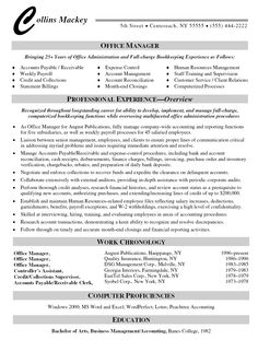 medical office manager resume SampleBusinessResumecom