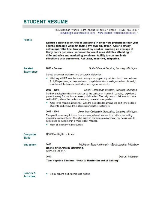 New grad nursing resume skills nursing student resume for Cover letter for newly graduated student
